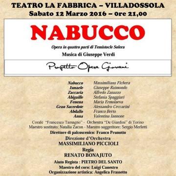 Il Nabucco a Villadossola - Massimiliano Fichera